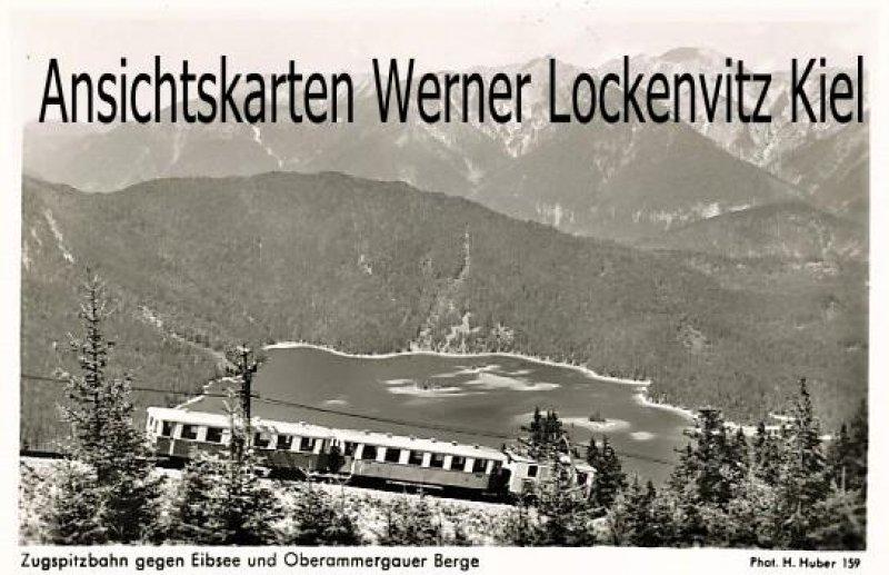 Ansichtskarte Zugspitzbahn gegen Eibsee