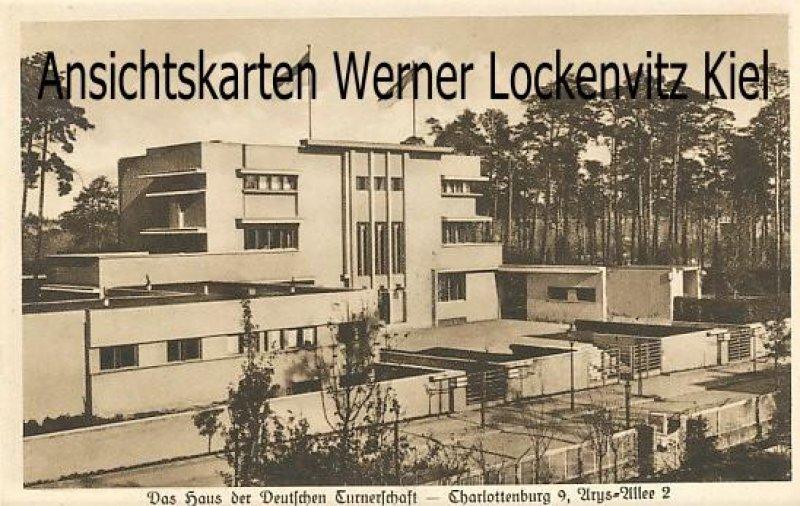 Ansichtskarte Berlin-Charlottenburg Das Haus der Deutschen Turnerschaft Arys-Allee