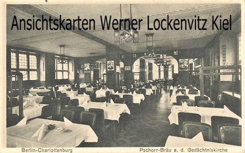 Ansichtskarte Berlin-Charlottenburg Pschorr-Bräu an der Gedächtniskirche Innenansicht