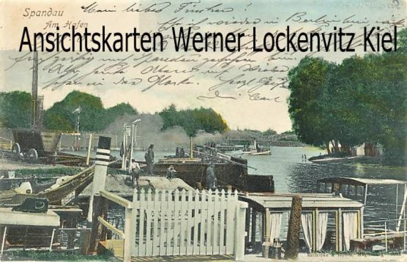 Ansichtskarte Berlin-Spandau Am Hafen