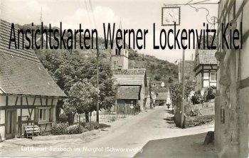 Ansichtskarte Sulzbach Gaggenau im Murgtal Ortsstraße