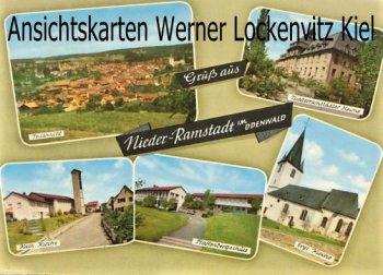 Ansichtskarte Nieder-Ramstadt Pfaffenbergschule Kirchen Teilansicht
