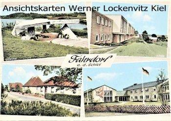 Ansichtskarte Fahrdorf Schule Altersheim Ortsstraße