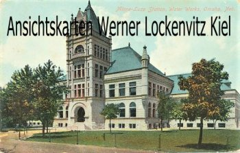 Postcard USA Minne-Lusa Station Water Works Omaha Neb.