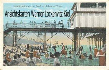 Ansichtskarte Postcard USA Leisure Hours on the Beach at Galveston Texas