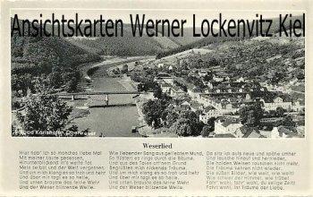 Ansichtskarte Bad Karlshafen Weserlied Ortsansicht