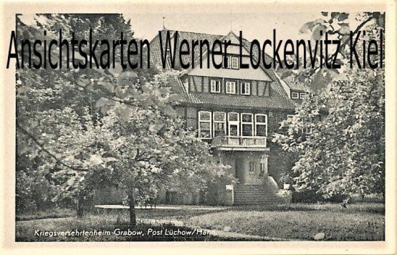 Ansichtskarte Lüchow-Grabow Kriegsversehrtenheim