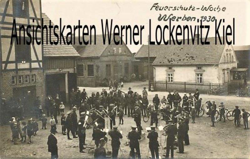 Ansichtskarte Werben Feuerschuz-Woche 1930 Fotokarte