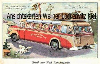 Ansichtskarte Gruß aus Bad Salzdetfurth Reisebus Leporello