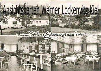 Ansichtskarte Battenberg-Laisa Pension Haus Ederbergland Bes. Horst Schneider Ortsansicht