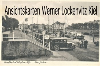 Ansichtskarte Wyk auf Föhr Am Hafen mit Taxen Kraftdroschken