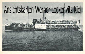 Ansichtskarte Wyk auf Föhr Ankunft der Gäste