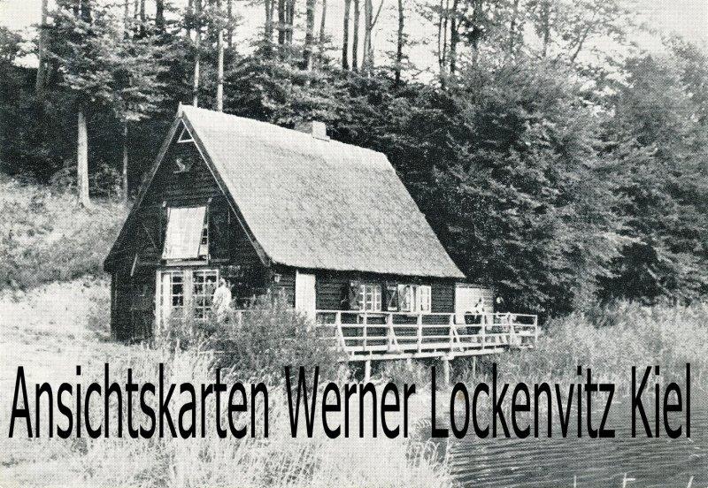 Ansichtskarte Süderfahrenstedt Haus am Langsee mit Landpoststempel