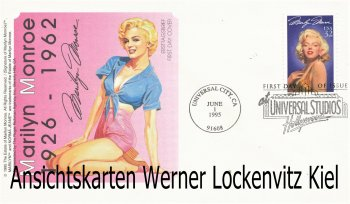 FDC USA Marilyn Monroe Ersttagsbrief