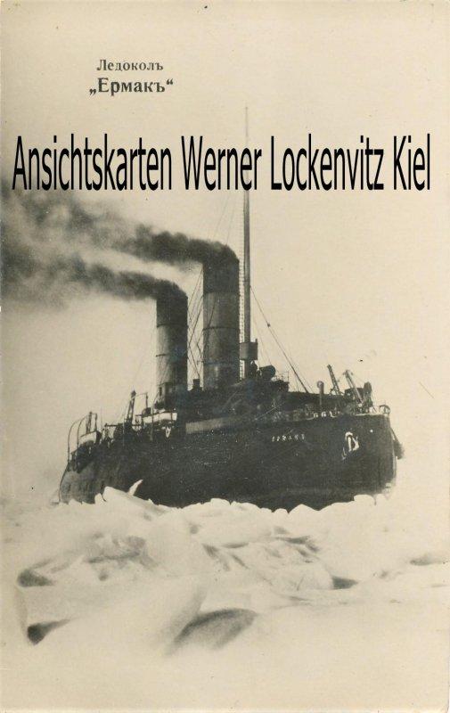 Ansichtskarte Eisbrecher Jermak Ермак Fotokarte