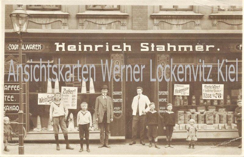 Ansichtskarte Colonialwarengeschäft von Heinrich Stahmer Fotokarte