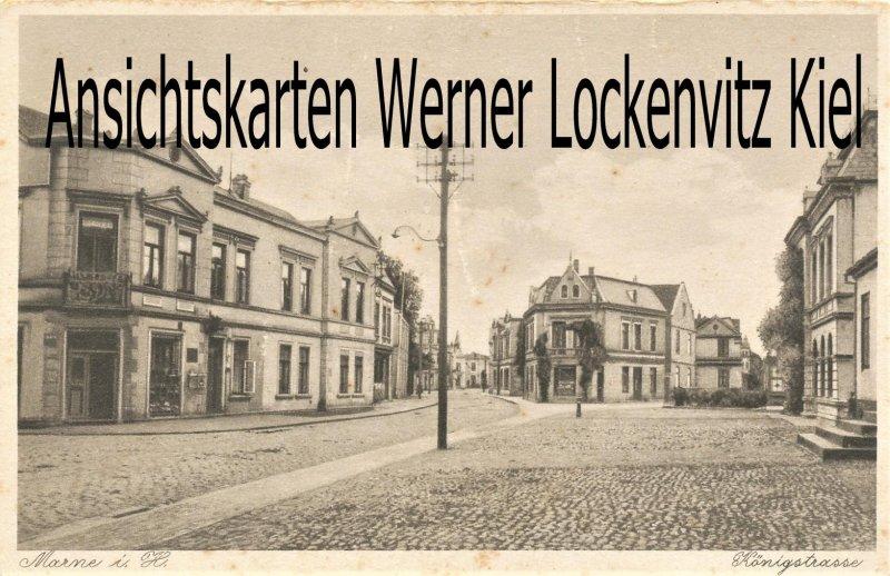 Ansichtskarte Marne in Holstein Königstrasse
