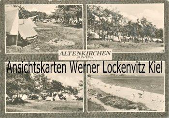 Ansichtskarte Altenkirchen auf Rügen Wittow Campingplatz Strand