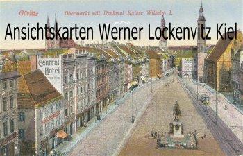 Ansichtskarte Görlitz Obermarkt mit Denkmal Kaiser Wilhelm I.