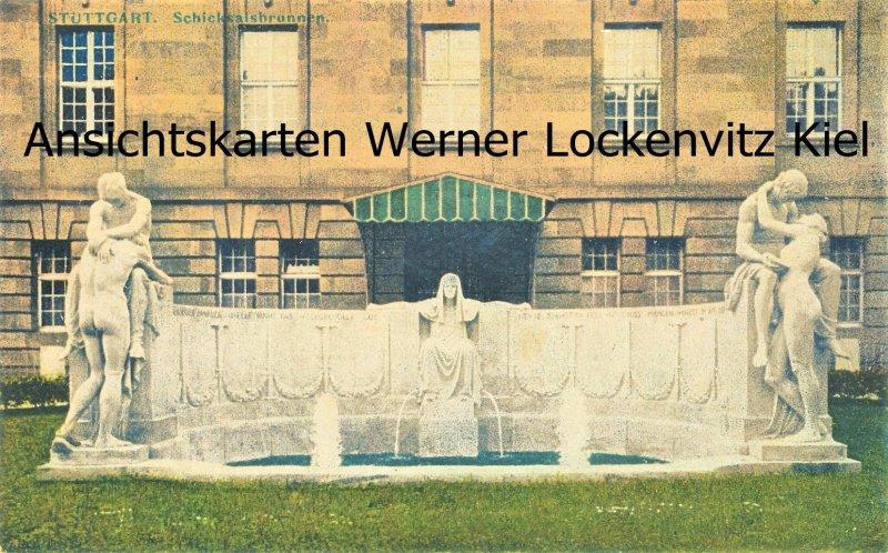 Ansichtskarte Stuttgart Schicksalsbrunnen