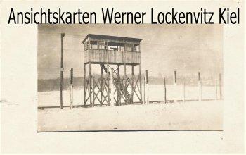 Ansichtskarte USA Kanada Internierungslager Wachturm Fotokarte