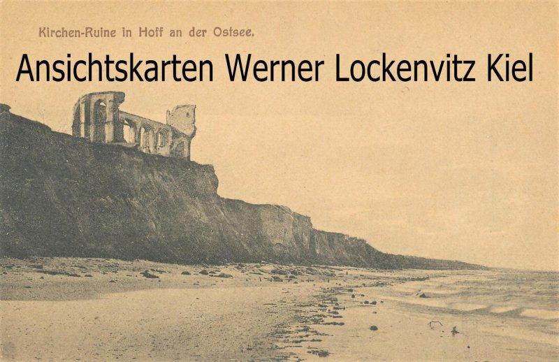 Ansichtskarte Polen Trzęsacz Hoff a. d. Ostsee Kirchen-Ruine Rewal Rewahl