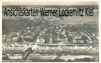 Ansichtskarte Ortsansicht Luftbildaufnahme vom Ostseebad Binz auf Rügen