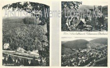 Ansichtskarte Clausthal-Zellerfeld Wildemann Ortsansichten Bahnhof