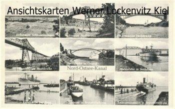 Ansichtskarte Nord-Ostsee-Kanal NOK Brücken