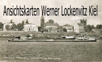 Ansichtskarte Duisburg-Homberg Deichpartie am Rheingarten