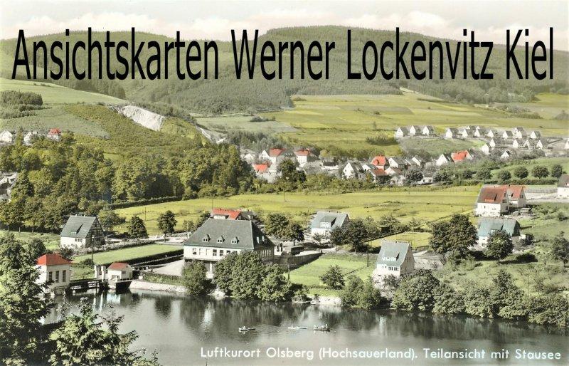 Ansichtskarte Olsberg Teilansicht mit Stausee Hochsauerland Ortsansicht