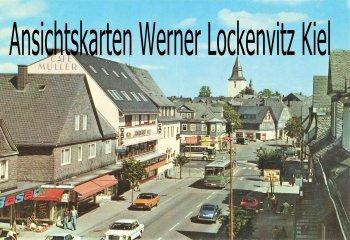 Ansichtskarte Winterberg Am Waltenberg mit Cafe Müller