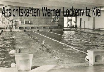 Ansichtskarte Anklam Volksschwimmhalle Innenansicht