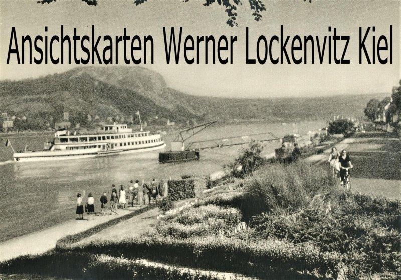 Ansichtskarte Remagen mit Erpeler Ley mit Dampfer Bagger Kran