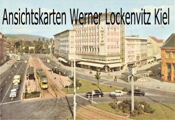 Ansichtskarte Bielefeld Jahnplatz mit Straßenbahn