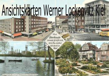 Ansichtskarte Oberhausen-Sterkrade Stadtmitte Volkspark mit Zeche Parkanlage Zilianplatz