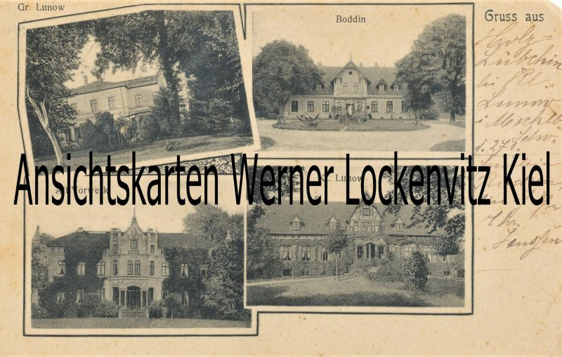 Ansichtskarte Walkendorf-Boddin Gut Groß Lunow Alt-Vorwerk