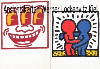 Ansichtskarte Keith Haring 2 Karten