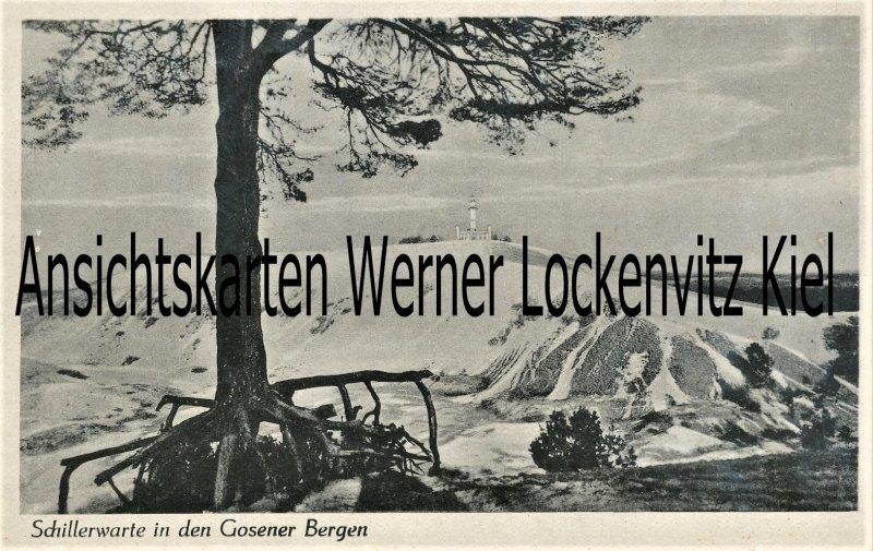 Ansichtskarte Schillerwarte in den Gosener Bergen Inh. Edmund Irrgang in Zwiebusch bei Schmöckwitz