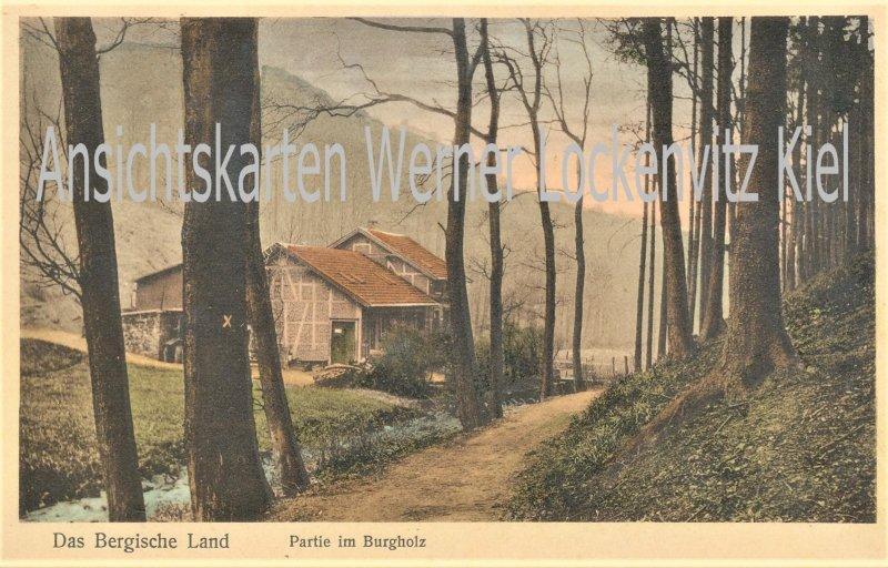 Ansichtskarte Wuppertal Das Bergische Land Partie im Burgholz mit Haus