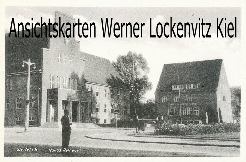 Ansichtskarte Wedel in Holstein Neues Rathaus mit Sparkasse