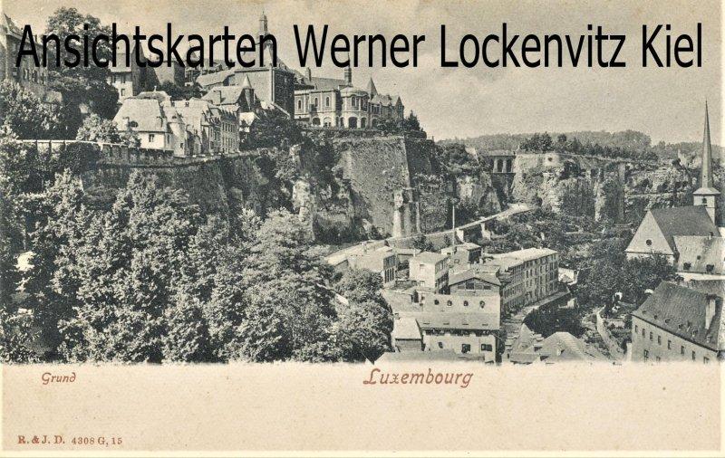 Ansichtskarte Luxemburg Luxembourg Grund
