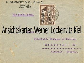 Geschäftsbrief Firma A. Dammert  & Co. Lima Peru an Firma Firma Reichhold Flügger und Beeking Hamburg
