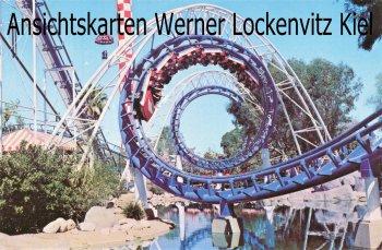 Ansichtskarte USA Buena Park CA. Roaring 20s Corksrew Knotts Berry Farm Achterbahn Jahrmarkt Kirmes