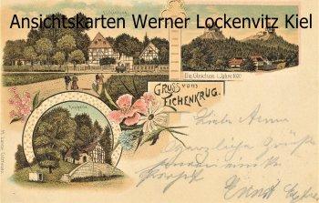 Ansichtskarte Gleichen Benniehausen Reinhausen Gruss vom Eichenkrug Litho BPStpl.