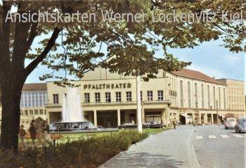 Ansichtskarte Kaiserslautern Am Fackelrondell mit Pfalztheater Kino