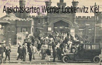 Ansichtskarte carte postale Belgien Ostende Hippodrome Wellington Retour de Courses