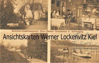Ansichtskarte Sommer-Etablissement Ober-Selker Quellental bei Schleswig Grammophon