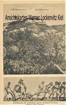 Ansichtskarte Freyburg a. U. Züchtigung der Edelleute durch Landgraf Ludwig Schloß Neuenburg