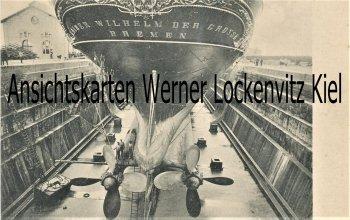 Ansichtskarte Bremerhaven Dampfer Kaiser Wilhelm der Grosse im Kaiserdock